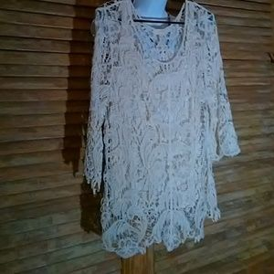 IVORY LACE EVENING TOP